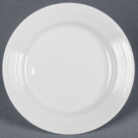 Tuxton FPA-062 Pacifica 6 1/4 inch Porcelain White Embossed China Plate - 36 / Case