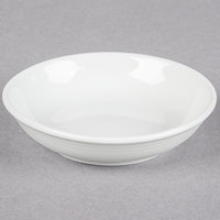 Tuxton FPD-041 Pacifica 3.25 oz. Bright White Embossed China Fruit Dish - 36/Case
