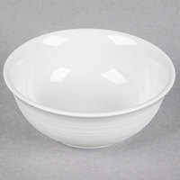 Tuxton FPB-140 Pacifica 14 oz. Bright White Embossed China Nappie Bowl - 24/Case