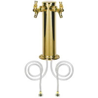 Micro Matic D4743DT-PVD PVD Brass 2 Tap Tower - 3 inch Column