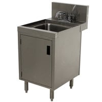 Advance Tabco PRHSC-24-12 Prestige Series Stainless Steel Underbar Hand Sink with Cabinet Base - 25 inch x 12 inch