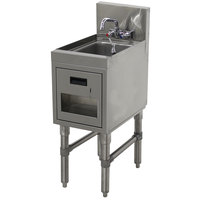 Advance Tabco PRHSST-19-18 Prestige Series Stainless Steel Underbar Hand Sink with Soap and Towel Dispenser - 20 inch x 18 inch