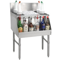 Advance Tabco PRI-24-48-10 Prestige Series Stainless Steel Underbar Ice Bin with 10-Circuit Cold Plate - 25 inch x 48 inch