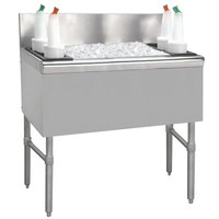 Advance Tabco PRI-24-42-10 Prestige Series Stainless Steel Underbar Ice Bin with 10-Circuit Cold Plate - 25 inch x 42 inch
