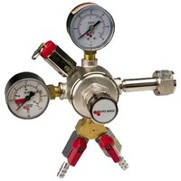 Micro Matic 642-2 Premium Series Double Gauge Primary CO2 Low-Pressure Regulator with 2 Shut-Offs