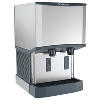 Scotsman HID525W-1A Meridian Countertop Water Cooled Ice Machine and Water Dispenser - 25 lb. Bin Storage