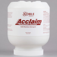 Noble Chemical Acclaim 8 lb. / 128 oz. Solid Dish Machine Detergent - 4/Case
