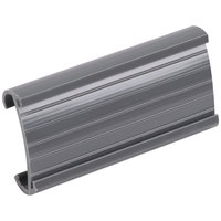 Metro 9990P Equivalent Gray Plastic Label Holder 3 inch x 1 1/4 inch