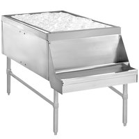 Advance Tabco PRPT-2442-10 Prestige Series Pass-Through Ice Bin with 10-Circuit Cold Plate - 24 inch x 42 inch