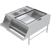 Advance Tabco PR-42X42-10-R Prestige Series Stainless Steel Pass-Through Workstation - (Right Side Ice Bin)