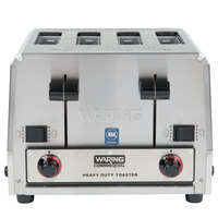 Waring WCT855 Heavy Duty Switchable Bread and Bagel 4-Slice Commercial Toaster - 240V