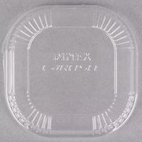 Dinex DX11810174 Disposable Clear Dome Lid for 10 oz. Square Bowl - 1000/Case