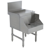 Advance Tabco PRDB-24-18 Prestige Series Stainless Steel Underbar Blender Station with Drainboard - 18 inch x 30 inch