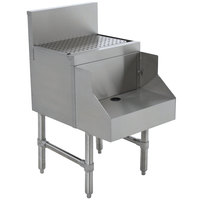 Advance Tabco PRDB-19-12 Prestige Series Stainless Steel Underbar Blender Station with Drainboard - 12 inch x 25 inch