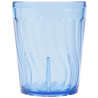 Dinex DX4GC654 6 oz. Blue Swirl SAN Tumbler - 72/Case