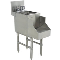 Advance Tabco PRRS-24-18 Prestige Series Stainless Steel Underbar Blender Station with Sink - 18 inch x 30 inch