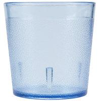 Dinex DX552954 9 oz. Ice Blue Pebbled SAN Low Profile Tumbler - 72/Case