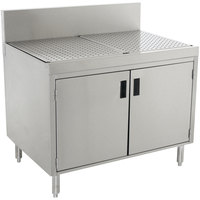 Advance Tabco PRSCD-19-36 Prestige Series Enclosed Stainless Steel Drainboard Cabinet with Doors - 36 inch x 25 inch