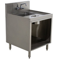 Advance Tabco PRWC-19-18 Prestige Series Stainless Steel Sink Cabinet with Waste Chute - 18 inch x 25 inch