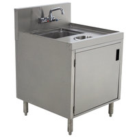 Advance Tabco PRWC-19-18-DR Prestige Series Stainless Steel Sink Cabinet with Door and Waste Chute - 18 inch x 25 inch