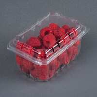 1 Pint Vented Rectangular Clamshell Produce / Berry Container - 80 / Pack