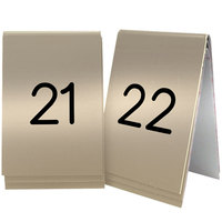 Cal-Mil 271-11 Gold Replacement Engraved Number Tent Sign - 3 1/2 inch x 5 inch