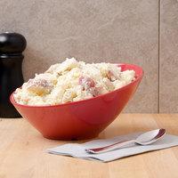 GET B-788-CR Diamond Harvest 16 oz. Cranberry Slanted Melamine Catering Bowl - 6/Case