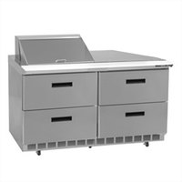 Delfield UCD4448N-8 48 inch 4 Drawer Reduced Height Refrigerated Sandwich Prep Table