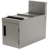 Advance Tabco PRT-12 Prestige Series 12 inch x 25 inch Stainless Steel Trash Receptacle Cabinet - 19 inch High