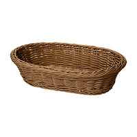 GET WB-1505-H 11 3/4 inch x 8 inch x 3 inch Designer Polyweave Honey Oval Basket - 12/Case