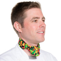 36 inch x 15 inch Multi Pepper Patterned Chef Neckerchief / Bandana