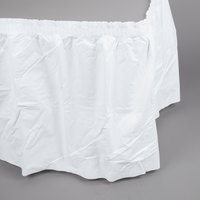 Creative Converting 833272 13' White Airlaid Tissue Table Skirt