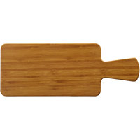 Elite Global Solutions M510RC Fo Bwa Rectangular Faux Bamboo Serving Board with Handle - 10 1/2 inch x 5 1/2 inch