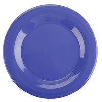 Thunder Group CR010BU 10 1/2 inch Purple Wide Rim Melamine Plate - 12/Pack