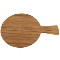 Elite Global Solutions M9RW Fo Bwa 9 inch Round Faux Bamboo Serving Board with Handle