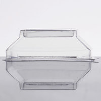 Fineline Wavetrends 1102-L Clear PET Dome Lid for 2 oz. Square Shot Glass - 1000/Case
