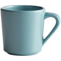 Elite Global Solutions DC14 Cottage Vintage California Cameo Blue 14 oz. Melamine Mug - 6/Case
