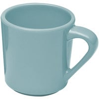 Elite Global Solutions DC14 Cottage Vintage California Cameo Blue 14 oz. Melamine Mug