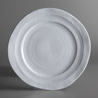 Elite Global Solutions D750 Della Terra 7 1/2 inch White Irregular Round Melamine Plate - 6/Case