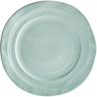 Elite Global Solutions D1134 Della Terra 11 3/4 inch Mint Green Irregular Round Melamine Plate - 6/Case