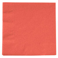 Creative Converting 803146B Coral Orange 2-Ply Beverage Napkin - 600/Case