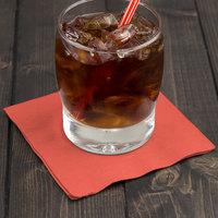 Creative Converting 803146B Coral Orange 2-Ply Beverage Napkin - 600/Case