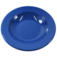 Elite Global Solutions D878PB-BC Base Camp 12 oz. Blue Round Speckle Pasta / Soup Bowl - 6/Case
