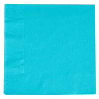 Creative Converting 801039B Bermuda Blue 2-Ply Beverage Napkin - 600/Case