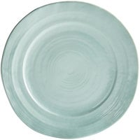 Elite Global Solutions D750 Della Terra 7 1/2 inch Mint Green Irregular Round Melamine Plate - 6/Case