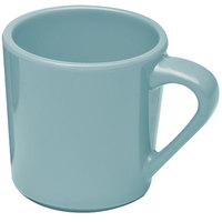 Elite Global Solutions DC Cottage Vintage California Cameo Blue 10 oz. Melamine Mug - 6/Case