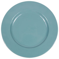 Elite Global Solutions D850C Cottage Vintage California 8 1/2 inch Cameo Blue Round Rim Melamine Plate - 6/Case