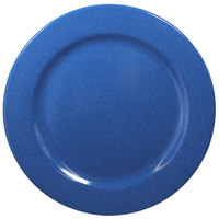 Elite Global Solutions D1075PL-BC Base Camp 10 3/4 inch Blue Speckle Round Melamine Plate - 6/Case