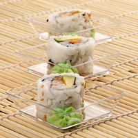 Fineline B6201-CL Tiny Temptations 2 1/4 inch x 2 1/4 inch Clear Disposable Plastic Tray - 200/Case