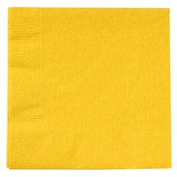 Creative Converting 801021B School Bus Yellow 2-Ply Beverage Napkin - 600 / Case